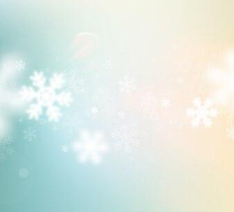 Estação do inverno decoração queda de neve brilho