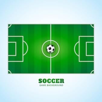 Estádio de futebol em design vetorial