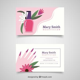 Esteticista cartão de visita