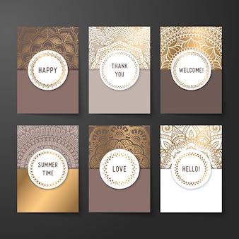 Estilo do luxo do convite do cartão de casamento