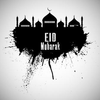 estilo grunge Eid Mubarak fundo