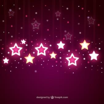 Estrelas brilhantes em queda