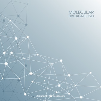 Estrutura molecular fundo abstrato