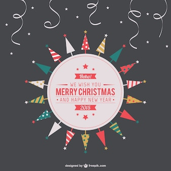 Etiqueta do Feliz Natal do vintage