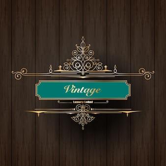 Etiqueta do logotipo do ornamento do vintage de luxo