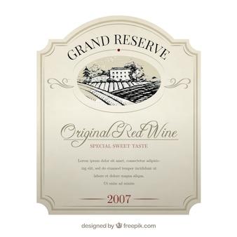 Etiqueta do vinho elegante