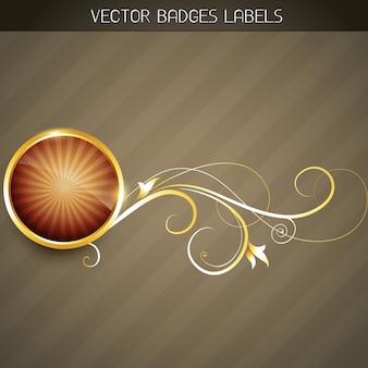 Etiqueta dourada