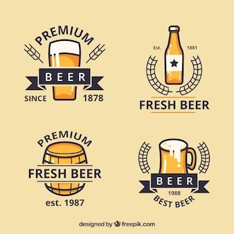 Etiqueta retro decorativa da cerveja