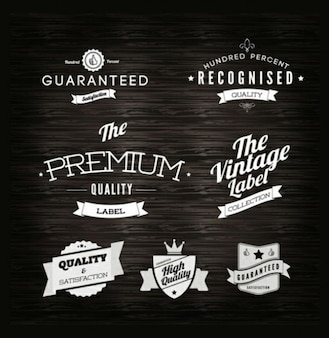 Etiquetas - Qualidade vintage set vetor rótulo