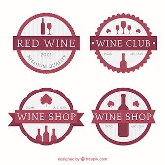 Etiquetas bonitos do vinho