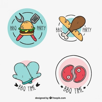 etiquetas churrasco Esboços