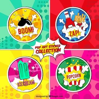 Etiquetas coloridas com estilo moderno