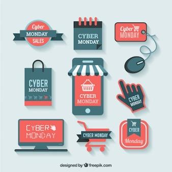 Etiquetas de compra Cyber Monday