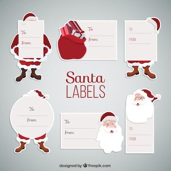 Etiquetas de Santa