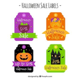 Etiquetas de venda de Halloween