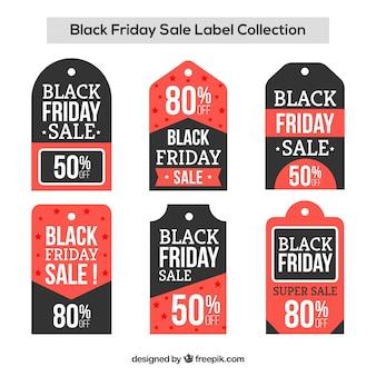 Etiquetas de venda de sexta feira preta