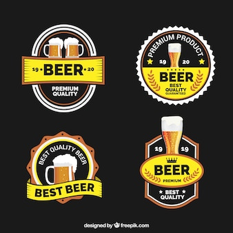 Etiquetas decorativas da cerveja no estilo do vintage
