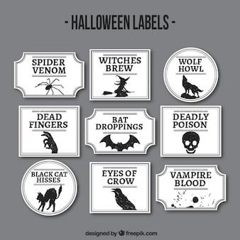 etiquetas do dia das bruxas
