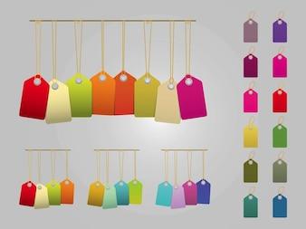 Etiquetas do preço coloridos em vetor pacote
