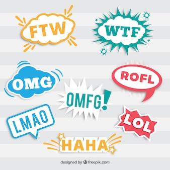 Etiquetas engraçadas com mensagens