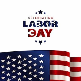 EUA Dia do Trabalho ilustração vetorial design de cartão
