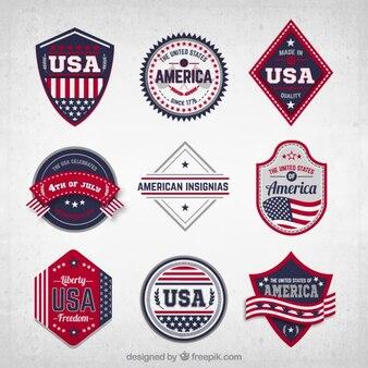 EUA emblemas coleção