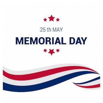 EUA Memorial Day linhas bandeira criativo fundo