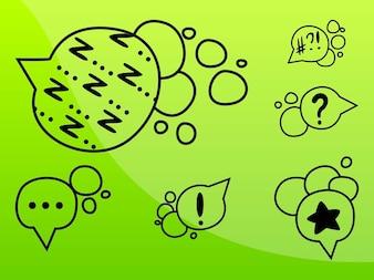 Exclamação e pontos de interrogação em quadrinhos