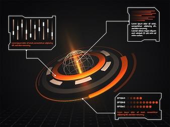 Exibição de documentos linha radar futurstic