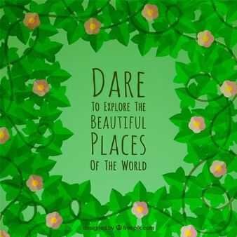 Explorar os lugares bonitos citar