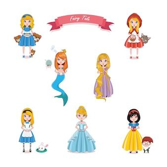 Fada coleção contos de princesas