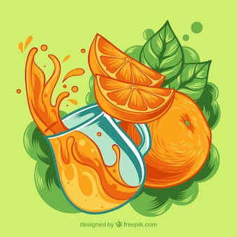 Fantástico fundo de suco de laranja