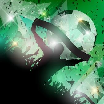 Fãs de futebol verde fundo