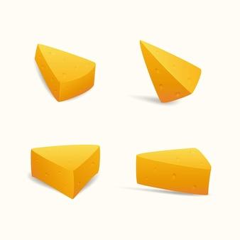 Fatias de queijo suíço