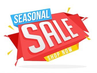 Feira ou cartaz da Web de venda sazonal.