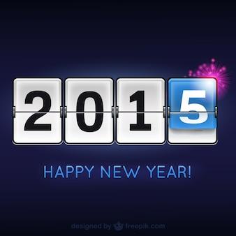 Feliz 2015 moderno vector