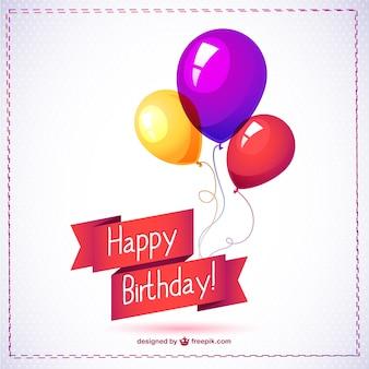Feliz aniversário balão gráficos livres