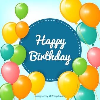Feliz aniversário, fundo dos balões