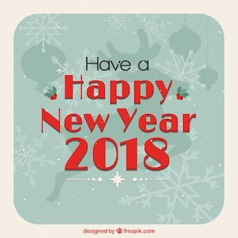 Feliz ano novo ano 2018 fundo