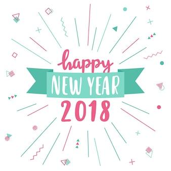 Feliz ano novo cartão 2018