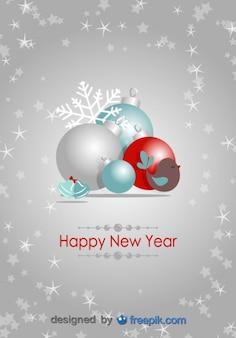 Feliz ano novo cartão postal