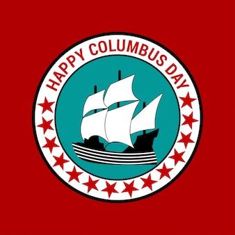 Feliz dia de Colombo. Comemorando o Dia dos Colombo. Cartaz do Dia de Colombo.