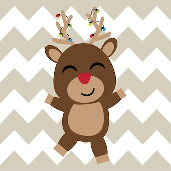 Feliz fundo de rena feliz