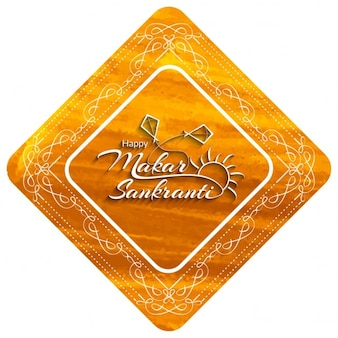 Feliz Makar Sankranti fundo bonito