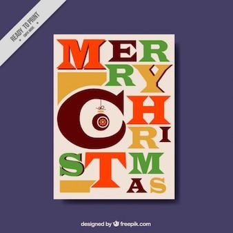 Feliz Natal com um cartão criativo