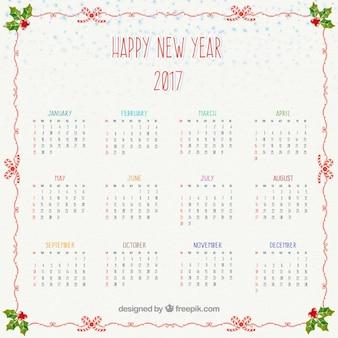 feliz novo ano de 2016 calendário