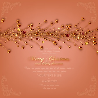 Feriado padrão coroa de natal decorada
