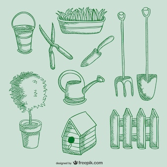 Ferramentas de jardinagem desenhos