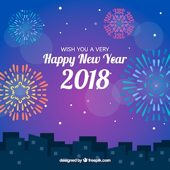 Festa do ano novo na cidade