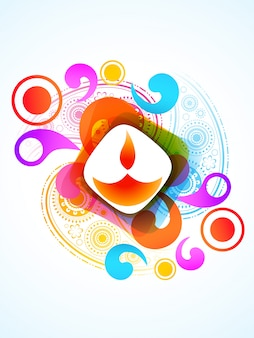 Festival colorido de diwali
